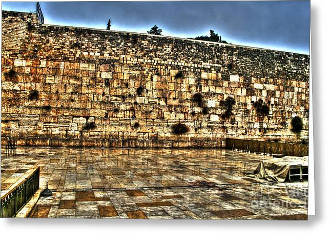 Greeting Card featuring the photograph Western Wall In Israel by Doc Braham