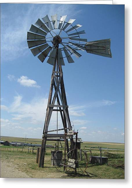Western Windmill Greeting Card