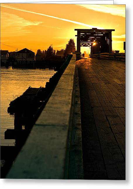 Westham Island Bridge Greeting Card