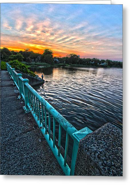 Westhampton-quogue Bridge Greeting Card