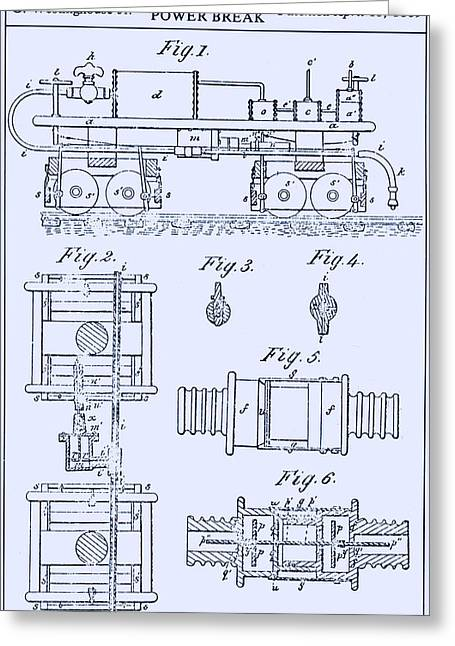 Westinghouse Steam Power Brake Patent Greeting Card