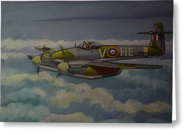 Westland Whirlwind Greeting Card by Murray McLeod
