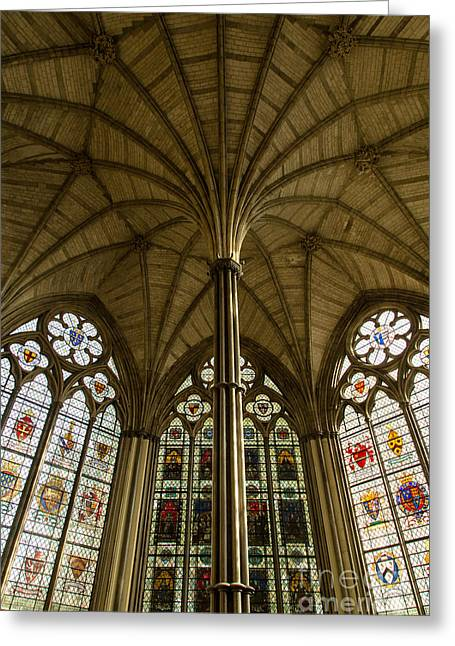 Westminster Abbey Chapter House Greeting Card