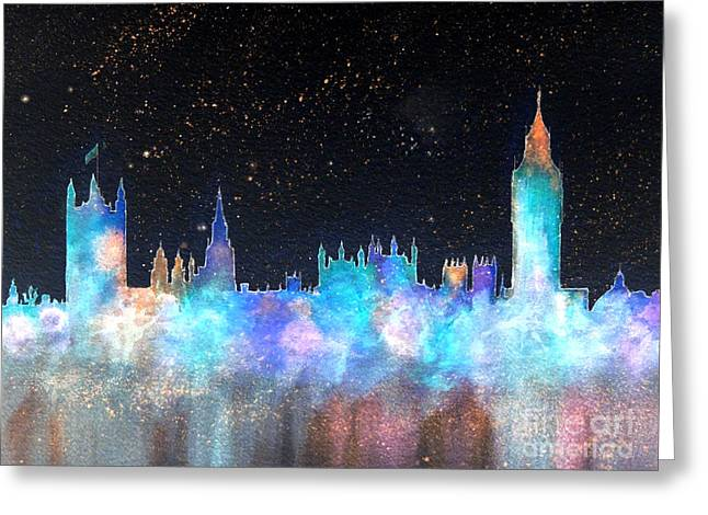 Westminster And Big Ben Cosmos Greeting Card by Bill Holkham