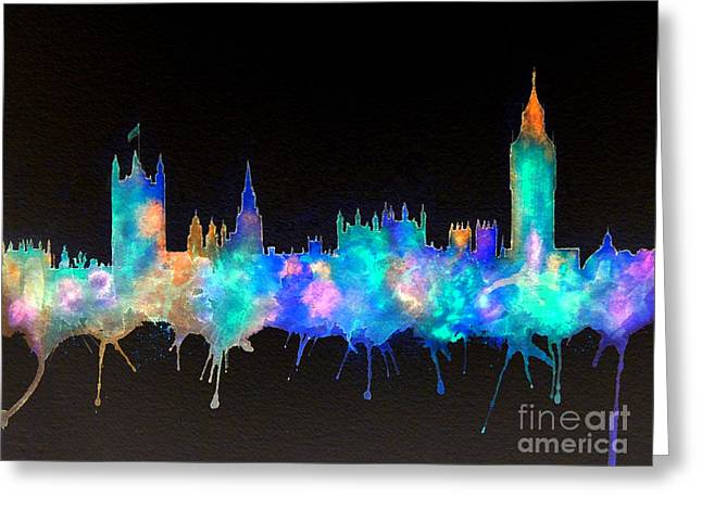 Westminster And Big Ben - Nighttime 1 Greeting Card by Bill Holkham