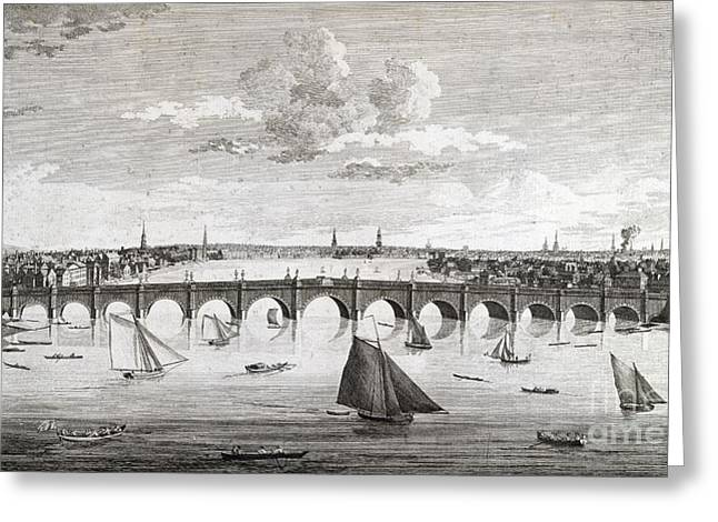 Westminster Bridge, London, Greeting Card by British Library