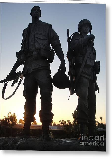 Westminster California Vietnam War Memorial - 05 Greeting Card by Gregory Dyer