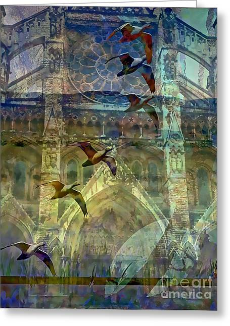 Westminster Cathedral Greeting Card by Ursula Freer