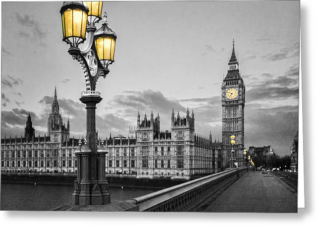 Westminster Morning Greeting Card by Colin and Linda McKie