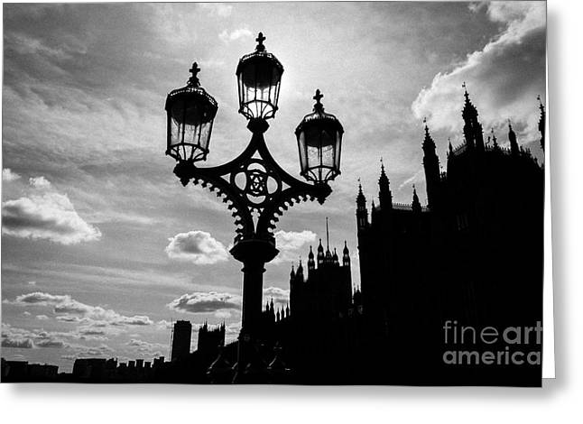 Greeting Card featuring the photograph Westminster Silhouette by Matt Malloy