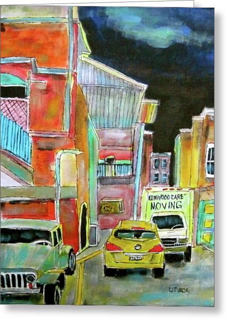 Westmount Lane Greeting Card by Michael Litvack