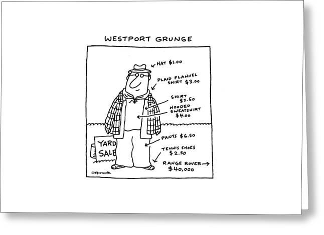 Westport Grunge Greeting Card by Charles Barsotti