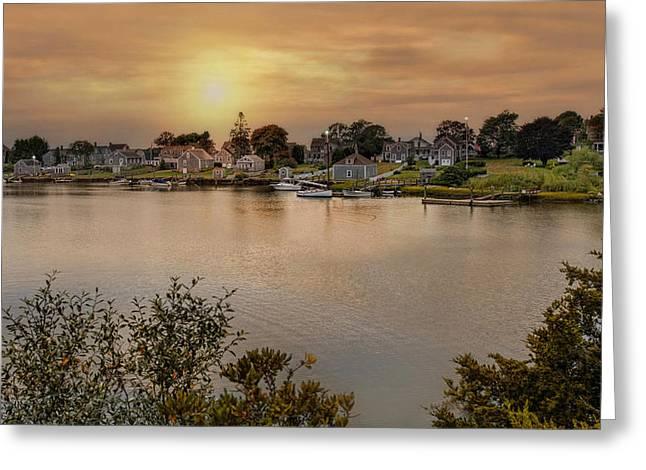 Westport Harbor Greeting Card by Robin-Lee Vieira