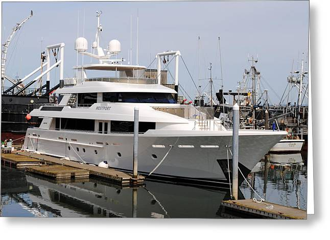 Westport Yacht Greeting Card by Michael Bruce