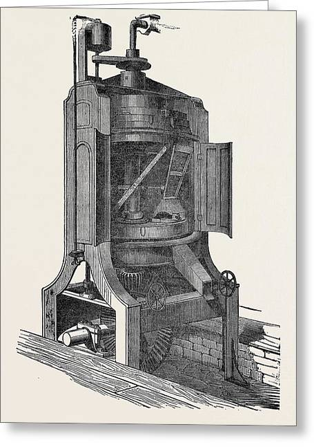 Westrups Patent Conical Flour Mill Greeting Card by English School