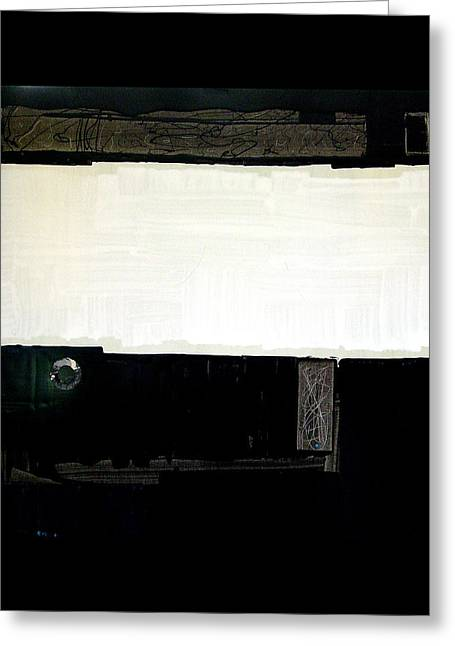 Westside Harbour Black Study I Greeting Card by Mark Fearn