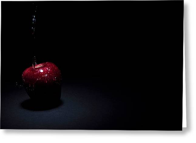 Wet Apple Greeting Card
