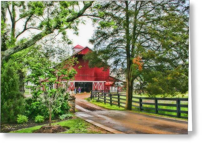 Landscape - Barn - Wet Day On The Farm Greeting Card by Barry Jones