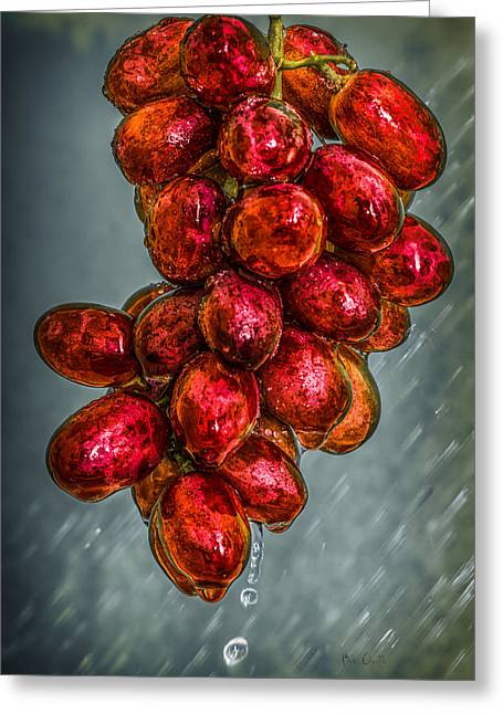 Wet Grapes Four Greeting Card by Bob Orsillo