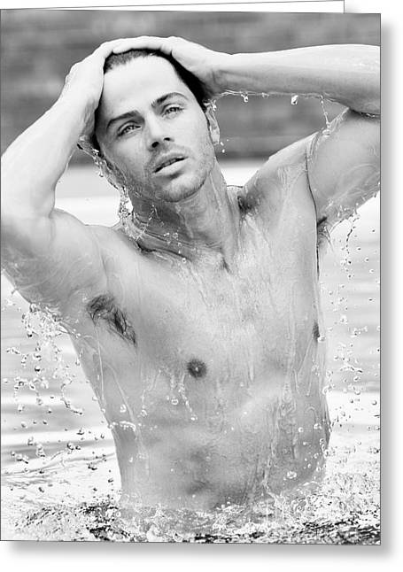 Wet Man Greeting Card by Jt PhotoDesign