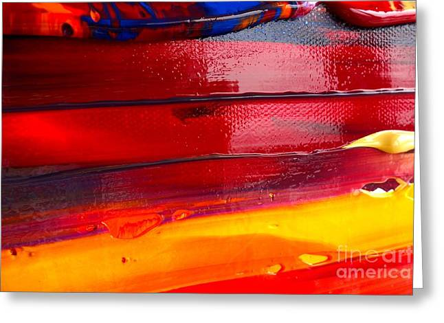 Greeting Card featuring the photograph Wet Paint 123 by Jacqueline Athmann