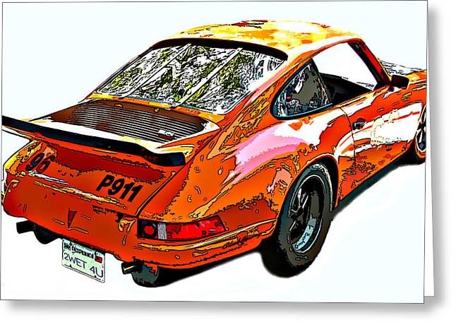 Wet Paint Porsche Sp911 Greeting Card