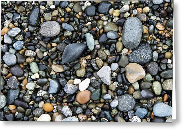 Wet Rocks On The Beach Oak Harbor Greeting Card by Keith Levit