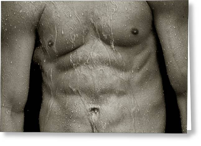 Wet Torso Greeting Card