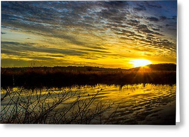 Wetlands Sunset Greeting Card