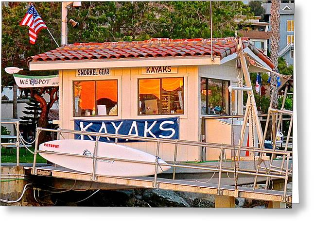 Wetspot Kayak Shack Greeting Card