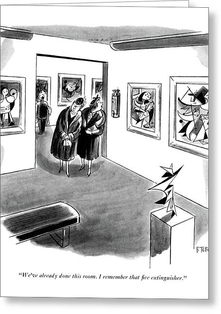 We've Already Done This Room. I Remember That ?re Greeting Card by Barney Tobey