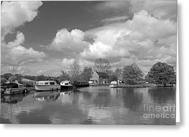 Wey Canal Ripley Surrey Greeting Card