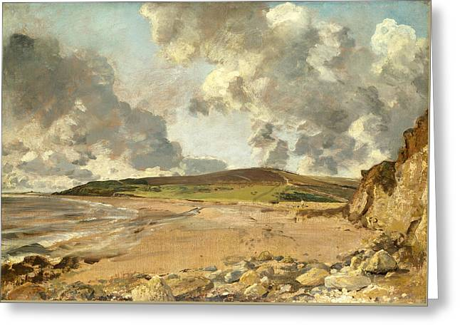 Weymouth Bay . Bowleaze Cove And Jordon Hill Greeting Card