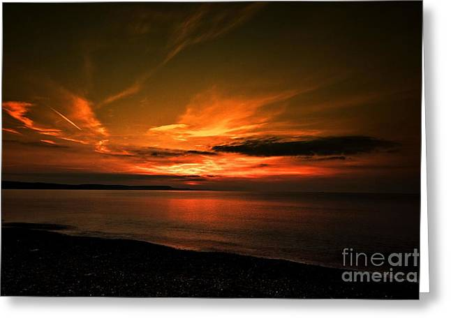 Weymouth  Golden Sunrise Greeting Card