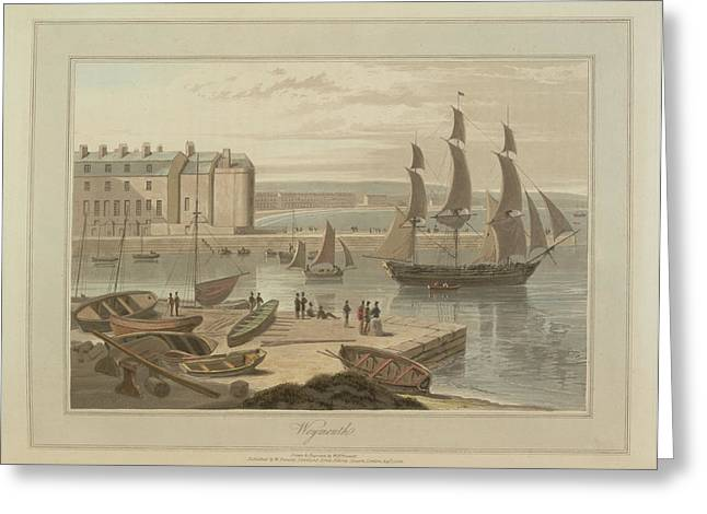 Weymouth Harbour Greeting Card by British Library