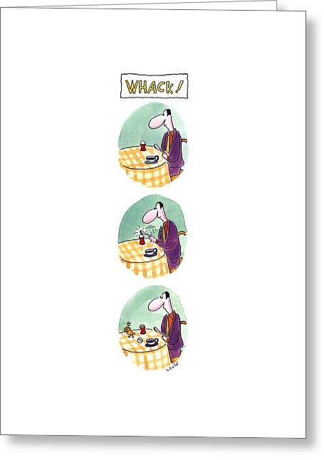 Whack! Greeting Card by Arnie Levin