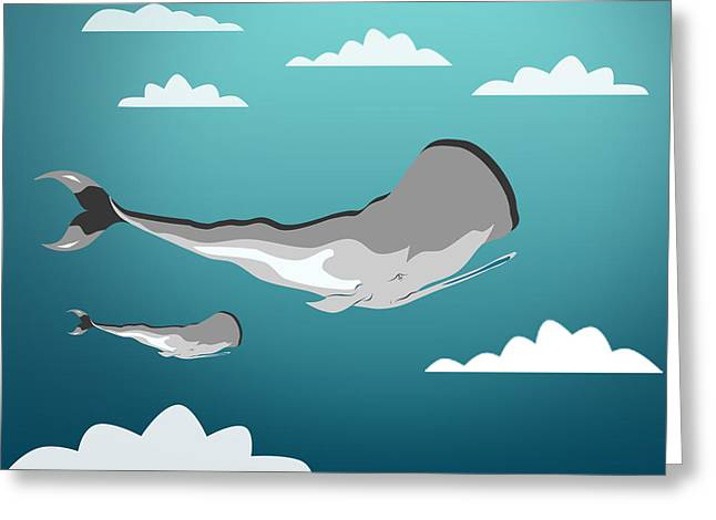 Whale 7 Greeting Card by Mark Ashkenazi