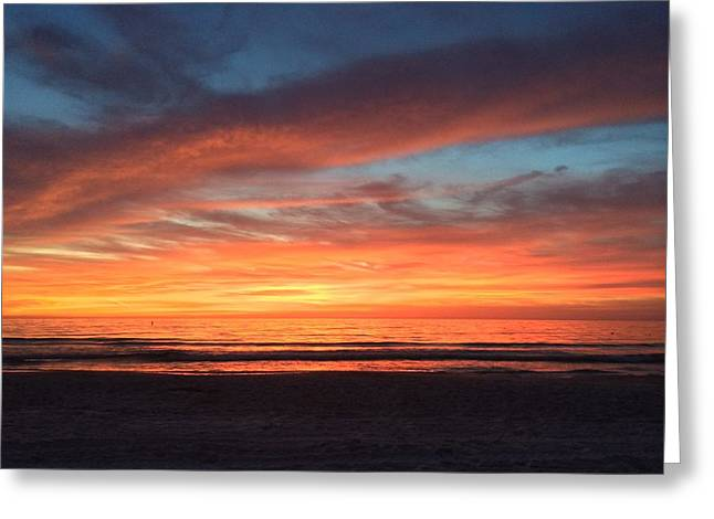 Whale Eye In Sky Sunset St.pete Beach Greeting Card