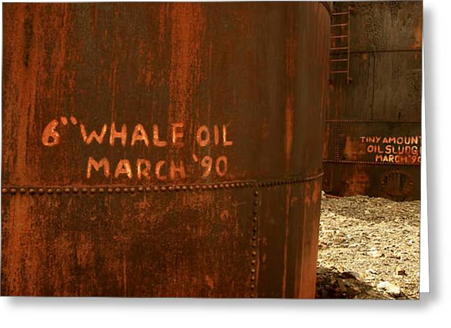 Whale Oil Tanks Greeting Card by Amanda Stadther
