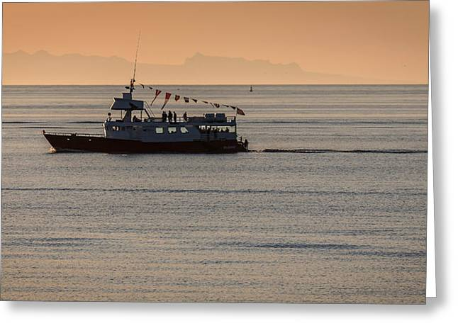 Whale Watching Tour, Reykjavik, Iceland Greeting Card by Panoramic Images