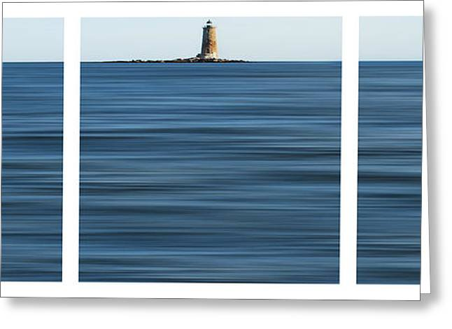 Whaleback Lighthouse Greeting Card by Sabine Jacobs