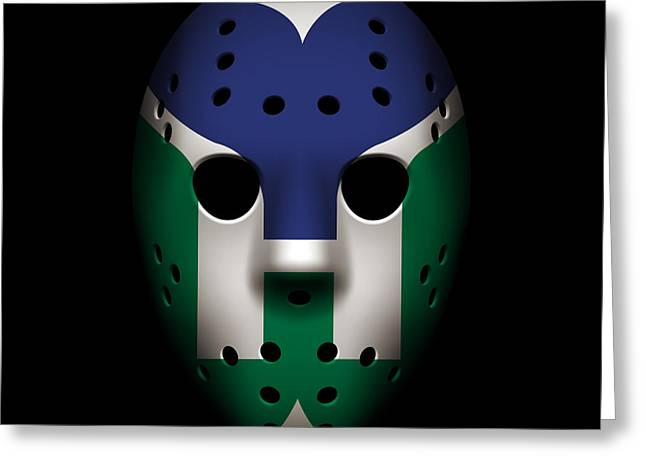 Whalers Goalie Mask Greeting Card by Joe Hamilton