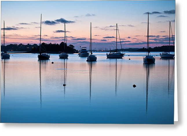 Wharf Blue Hour Greeting Card