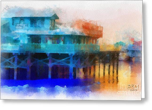 Wharf Color Greeting Card