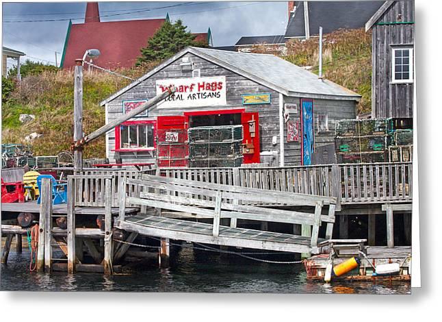 Wharf Hags Peggy's Cove Greeting Card