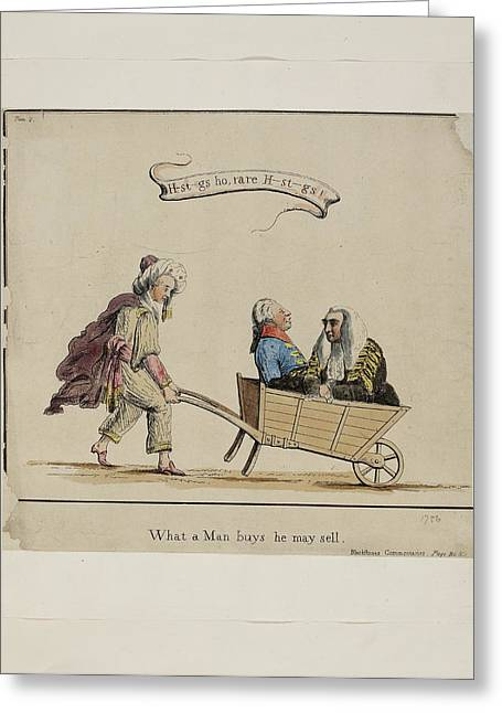 What A Man Buys He May Sell Greeting Card by British Library
