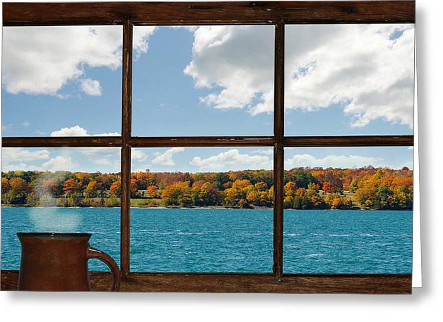 What A View. Greeting Card by Kelly Nelson