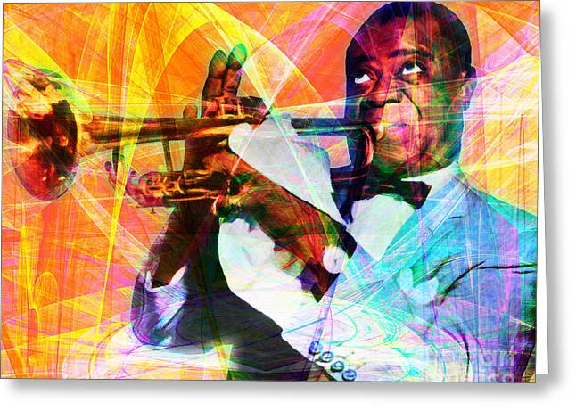 What A Wonderful World Louis Armstrong 20141218 Greeting Card by Wingsdomain Art and Photography