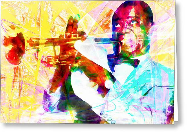 What A Wonderful World Louis Armstrong 20141218wcstyle Greeting Card by Wingsdomain Art and Photography