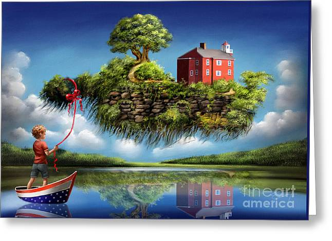 Greeting Card featuring the painting What A Wonderful World by S G